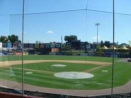 There are live cameras in center field, high home, and at first and third base. Center field shows the pitch, high home is the view of where the batter hits the ball, and the left and right base cameras are used to show the base runner.