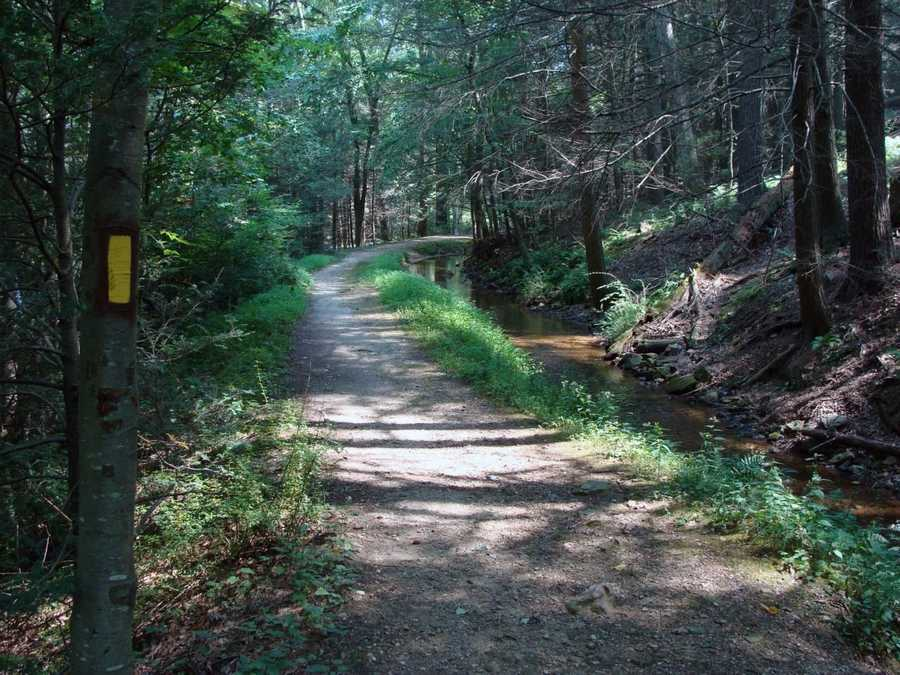 The park has about a dozen miles of hiking trails.