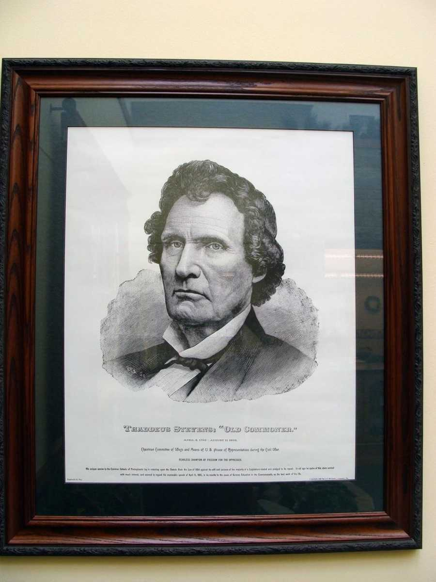 Thaddeus Stevens built a charcoal iron works in Franklin County, which opened in 1837, and named it Caledonia.
