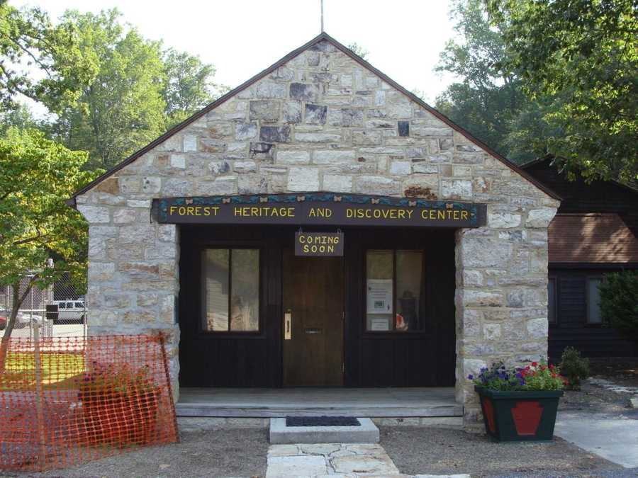 ... is the old park office, which will become the forest heritage and discovery center.