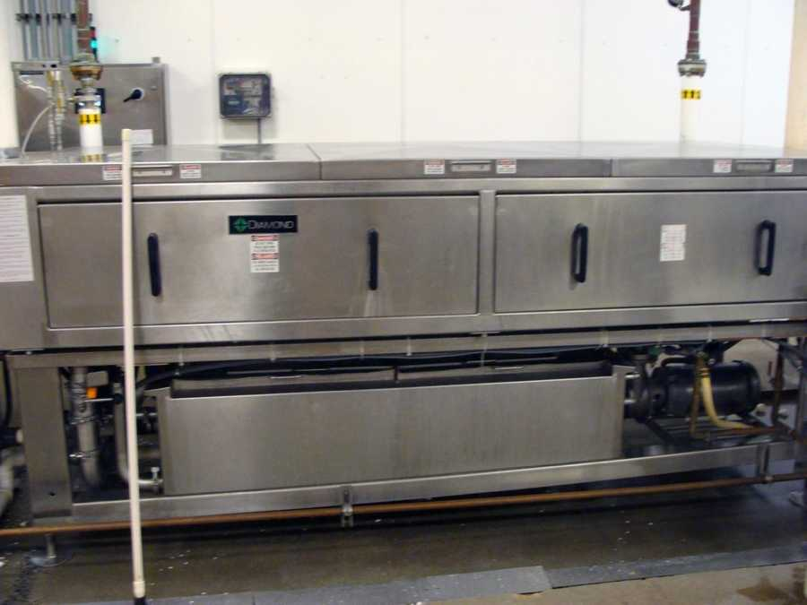 Throughout the sanitizing processes an egg is weighed about 100 times.
