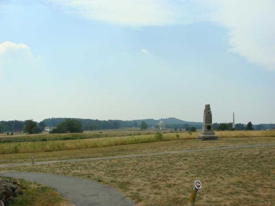 This is the view from the Brian house over the Gettysburg Battlefield.