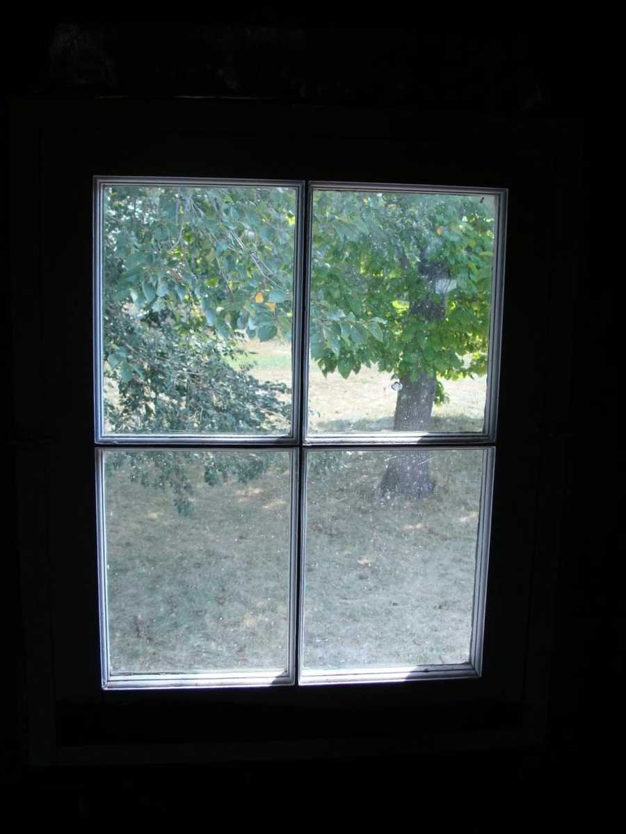 One of the upstairs windows.