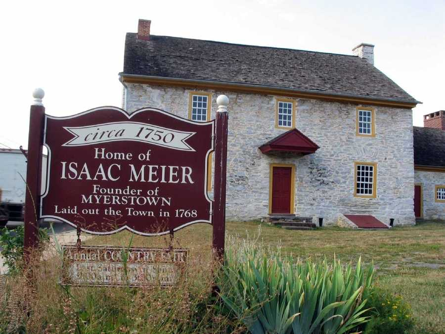 The Isaac Meier homestead along South College Street was the home of the founder of Myerstown.