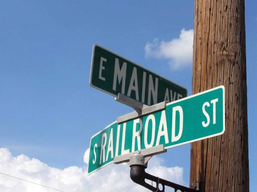 The intersection of Railroad Street and Main Avenue is a prominent crossroads in downtown Myerstown.