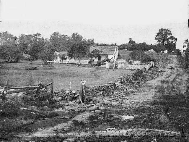 And this is where Union General George Meade set up his headquarters. The home was along Gettysburg's Cemetery Ridge.