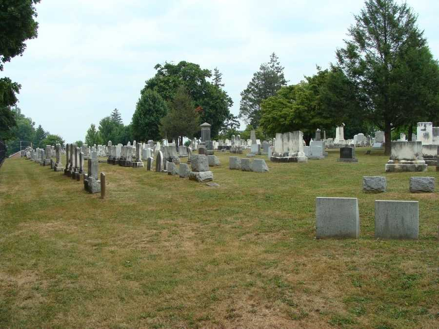 This area, aptly known as Cemetery Ridge, was an important place throughout the 3-day Battle of Gettysburg. It was a defensive position for Union troops, some of whom hid behind these tombstones to take cover from Confederate fire.