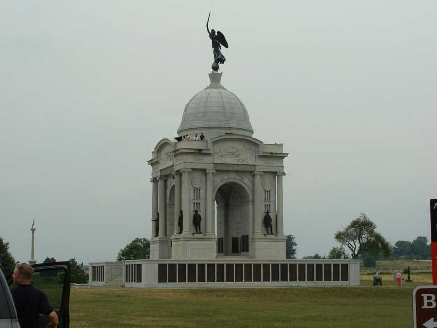 This is the only other monument on the battlefield that you can climb. It's the Pennsylvania Monument.