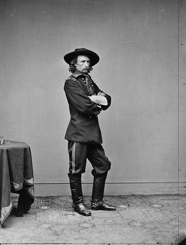 That was Gen. George Custer. While O'Rorke finished No. 1 in the 1861 West Point class, Custer finished dead last.