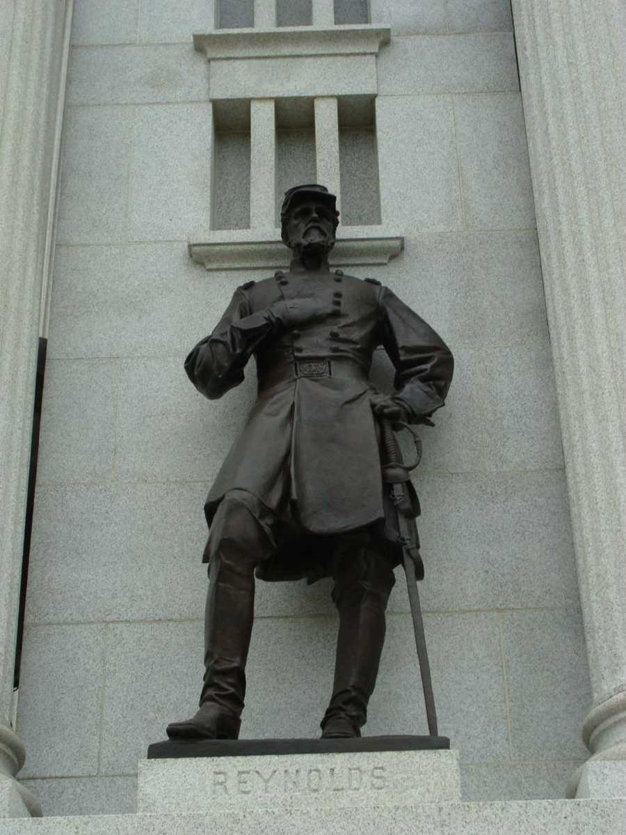 This Gettysburg statue is of General John Reynolds.