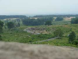This is the view from one of the battlefield's most notable spots -- Little Round Top.