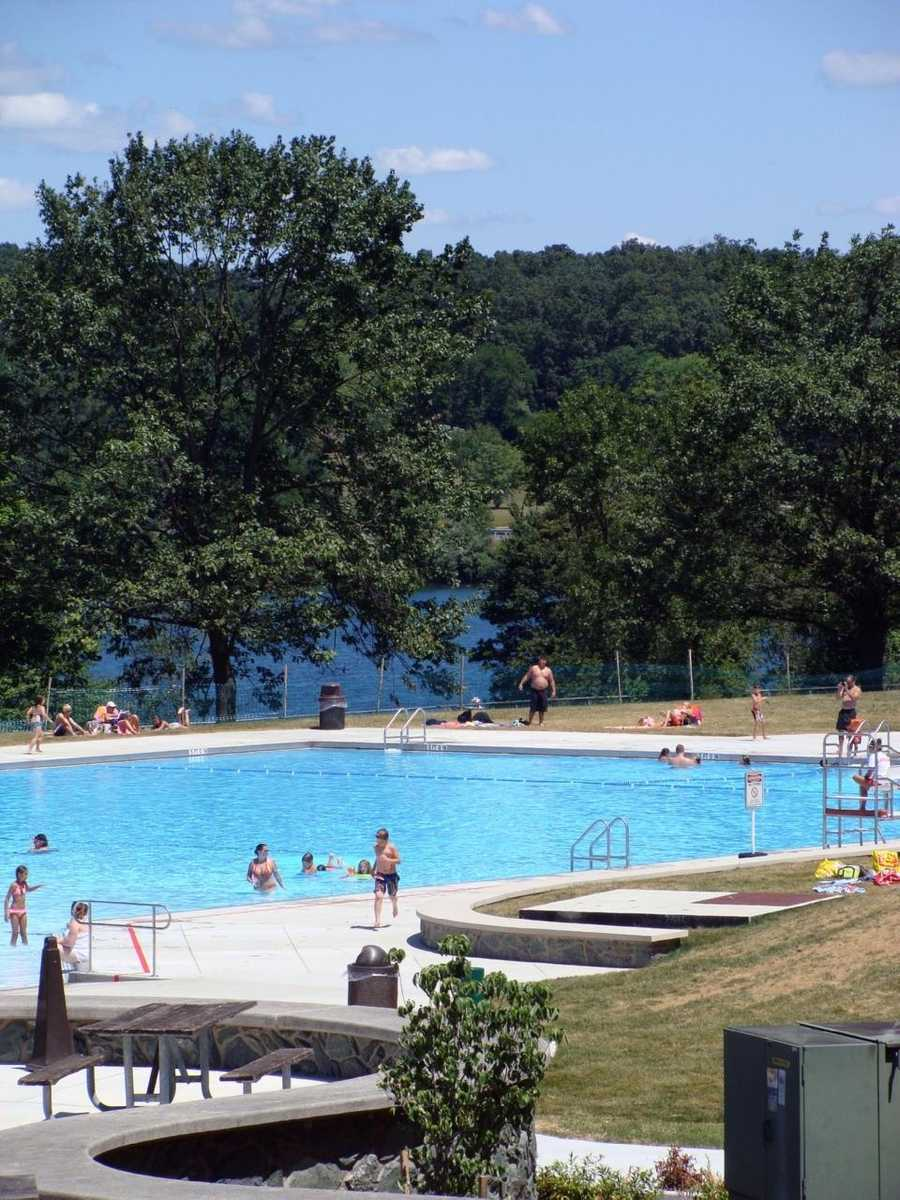 An admission fee is charged. Swimmers arriving after 4 p.m. receive a discount.