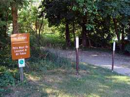 The La Ho trail, which is 1.5 miles, follows the shoreline of Wildasin Flats.