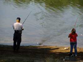 Anglers love the lake for warm water fishing.