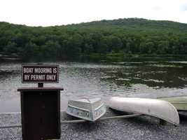 The lake has a boat launch and 85 mooring spaces.