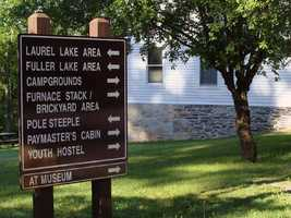 The 696-acre park, which is located about 8 miles from Interstate 81, is also home to the Appalachian Trail Museum. The midpoint of the famous trail is located in the park.