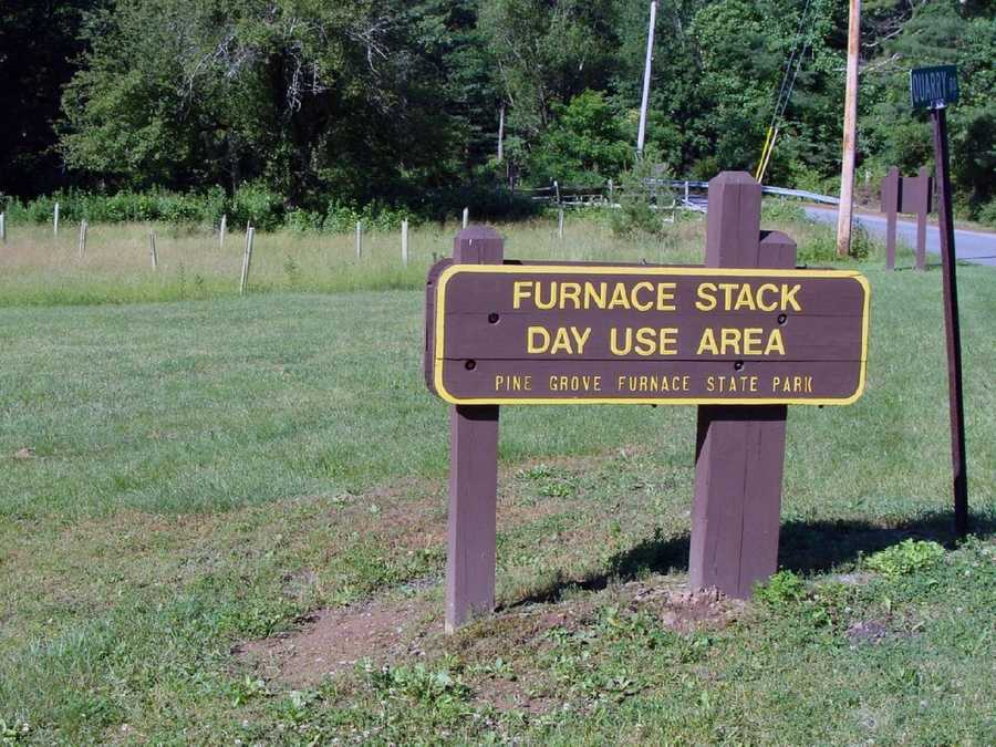 Access to the trail is located in the Furnace Stack Day Use Area.