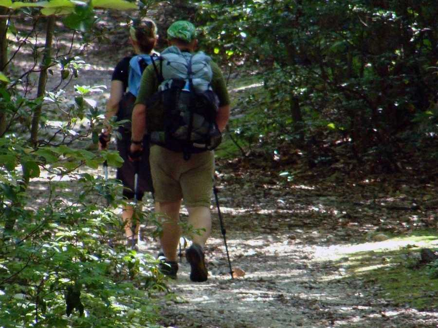 The 2,175-mile long Appalachian Trail stretches from Springer Mountain in Georgia to Mount Katahdin in Maine.