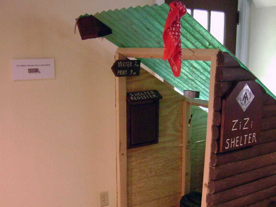 A children's discovery area is also part of the facility.