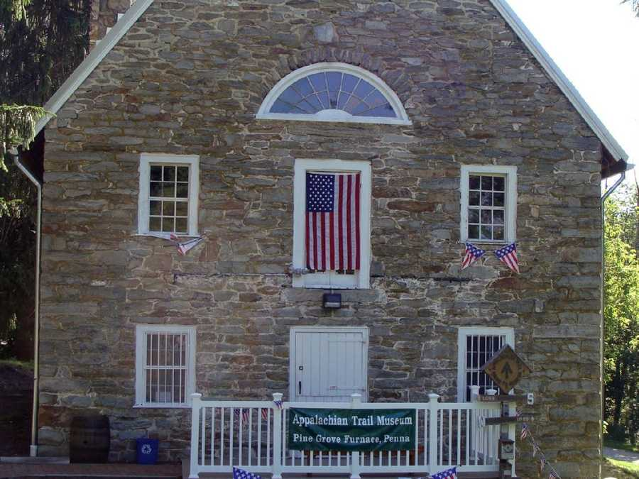 Pine Grove Furnace State Park is also home to the Appalachian Trail Museum, which is housed on the first floor of a structure built more than 200 years ago as a grist mill.