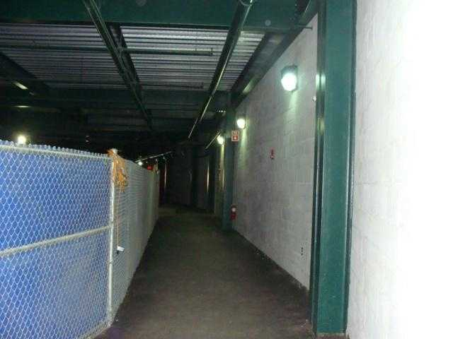 A view of the tunnel where the Clubhouse, grounds crew equipment, and other odds and ends is located.