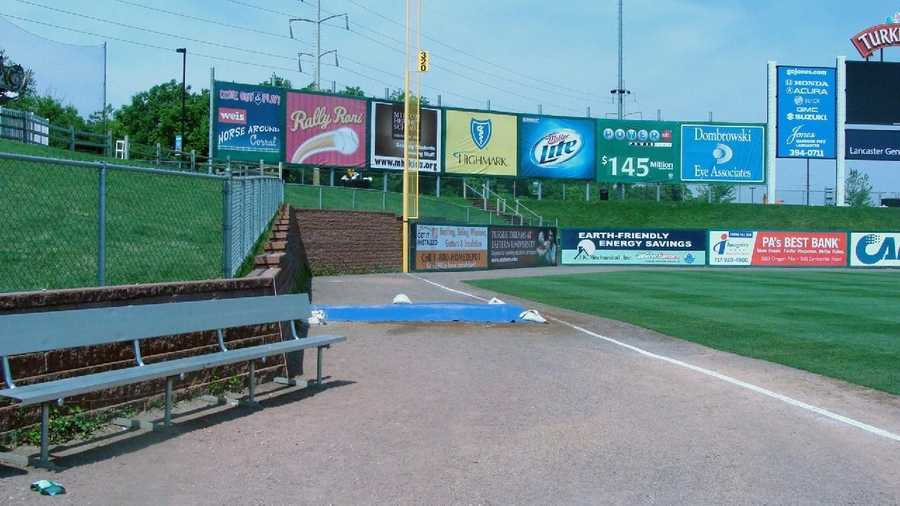 A shot of the visitor's bullpen.