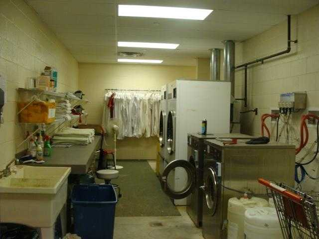 The laundry room, located outside of the Clubhouse, is where uniforms for both home and visiting teams are washed for players.