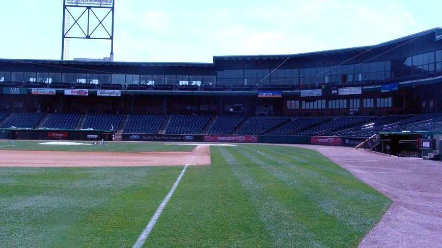 View from the left field foul line.