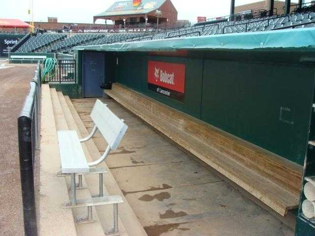 The Barnstormers' dugout.