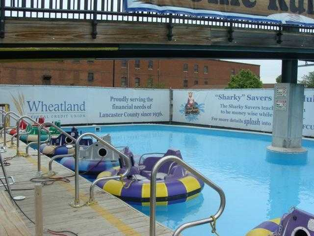 The bumper boats are located next to the Picnic Pavilion. After a trip to Adventure Sports, Barnstormers President Jon Danos came up with the idea to add bumper boats. Clipper Magazine Stadium was the first ballpark to add bumper boats.