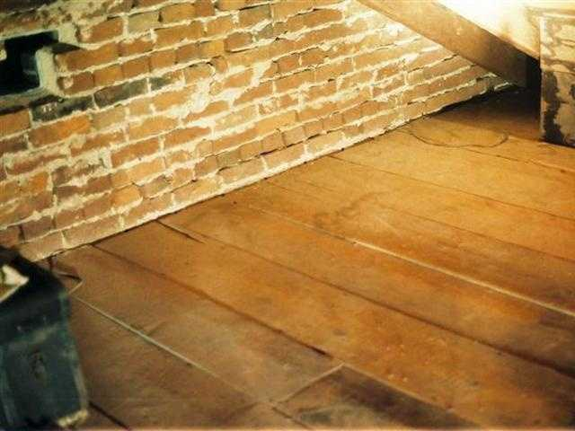 The Shriver House shared this and the following seven photos with WGAL. They show the area in the attic where the forensic test was done. This photo shows the area before it was treated with the luminal-type material.