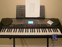 Next, Wolpert and Roche tested an electric keyboard. Wolpert said it would cost around 11 cents to keep it plugged in.