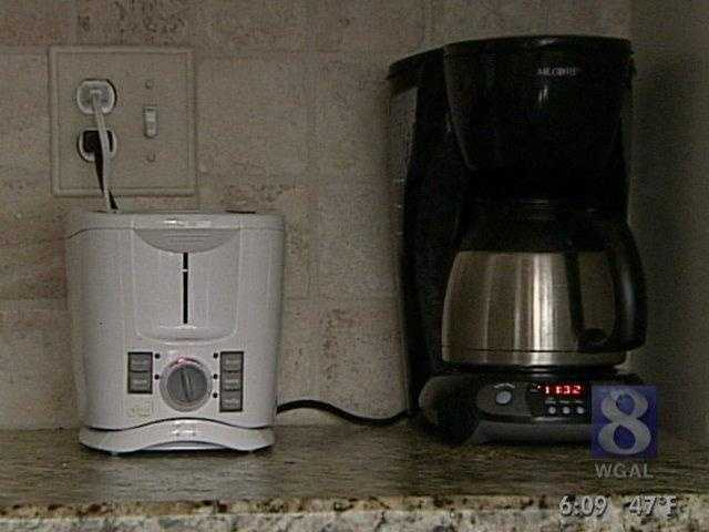 Many small kitchen appliances, like this coffee pot with a built-in digital clock, draw around 3 watts, costing around 22 cents per month.