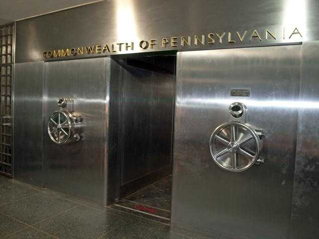 This is the exterior of the Pennsylvania Treasury Vault.