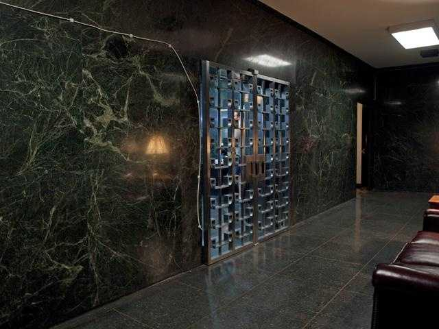 This is the main lobby. You go down an elevator to the vault lobby.