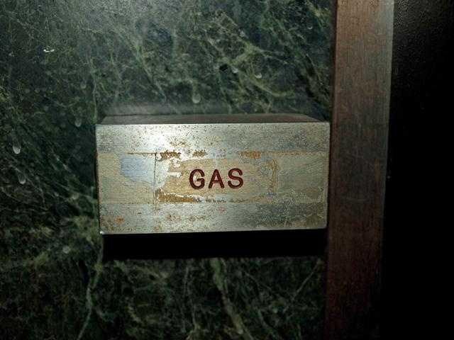 Ambush center: close up of gas.