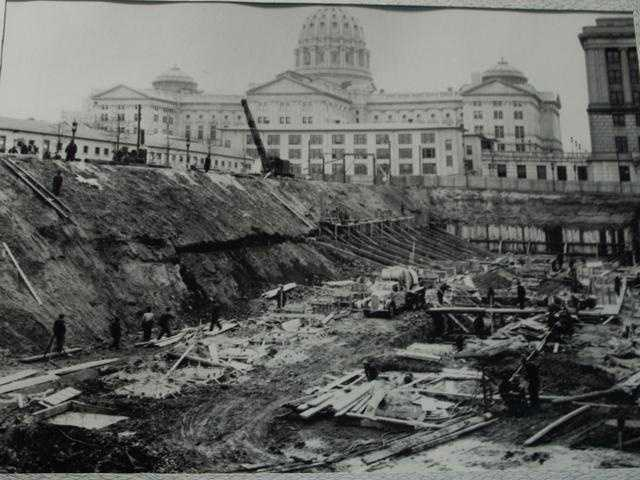 The vault is underground near the state Capitol. It was finished in 1939. At the time it cost less than $600,000 to build. The state finance building was constructed around the vault.