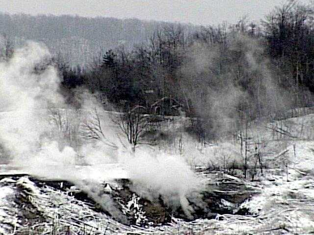 The trouble in Centralia began in May of 1962 when someone started a fire in a trash dump on the edge of town.