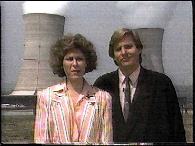 Nancy Burns with Doug Allen on PM Magazine.