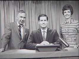 Left to right: Dave Brandt, Wendell Woodbury and Gloria Fetter -- with the weather.