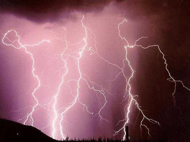 On average, lightning kills more people per year than tornadoes. This picture was taken in Tucson, Ariz.