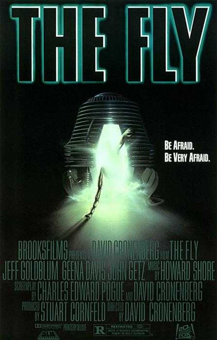 """28. """"The Fly"""": This psychological thriller turns human morality inside out by crossing a Kaftka tale and a lot of goop. If you're looking for special effects to make your stomach churn, look no further (which is why the movie poster is shown)."""