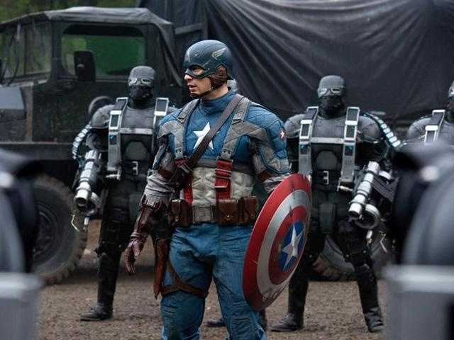 Captain America: The superhero first appeared in 1941 from Marvel Comics' predecessor, Timely Comics. Wearing a costume that depicts an American flag motif, the character was shown fighting the Axis powers of World War II. Captain America was the first Marvel Comics character adapted into film, with its most recent being released in 2011. It is rumored a sequel to the 2011 film will be released in 2014. Until then, Captain America will team up with The Avengers.