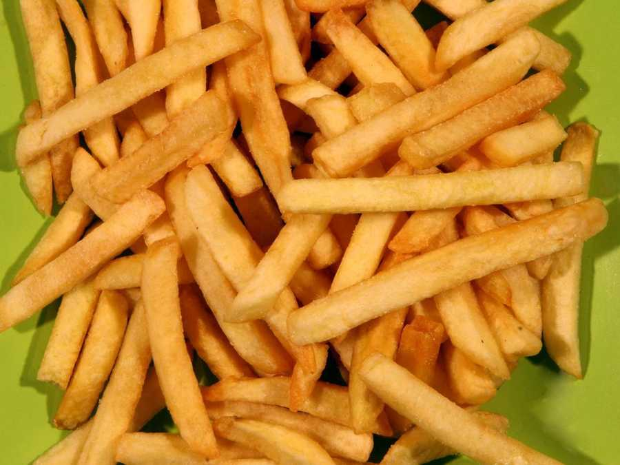 2. Super-sized fries (no one in the minivan to take the last handful, or take the edge off the guilt).