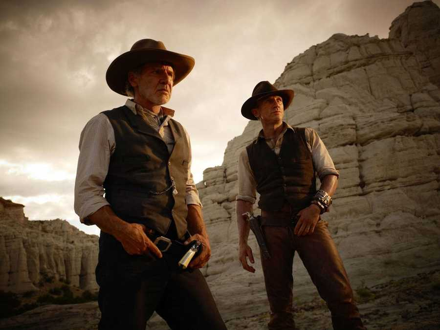 Cowboys and Aliens: The 100-page Platinum Studios 2006 graphic novel, created by Scott Mitchell Rosenberg, will be released on the big screen in 2011. It follows a stranger, with no recollection of his past, in the 1875 Old West in a town being attacked by alien spaceships.