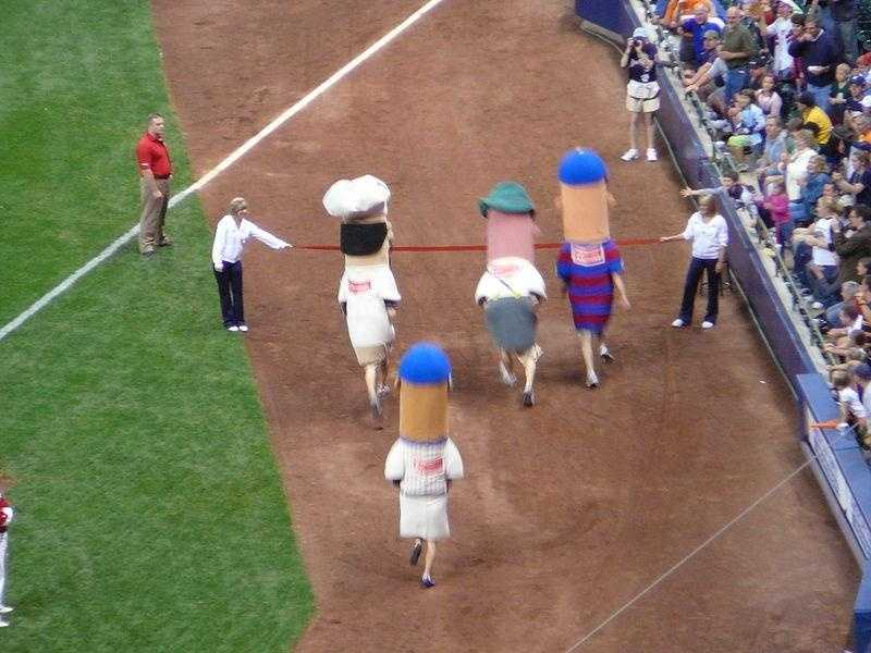 "The Sausage Race debuted in County Stadium in 1993. During the 2000 season -- the final year of County Stadium -- the virtual race was thrown out and the actual sausages began to race every game. Hideo Nomo, Pat Meares and Geoff Jenkins are just three of the lucky players to boast ""Racing Sausage""on their resumes."