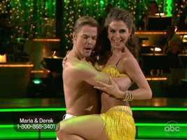 "The crowd gave a standing ovation, but Carrie Ann said their kiss was better left undone as the Salsa should convey the illusion heat and not ""going at it on the dance floor."""