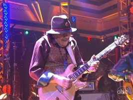 It also brought out Carlos Santana as he joined the band in the ballroom