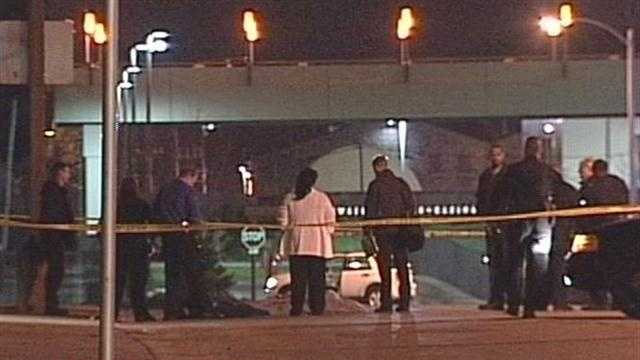 A person falls off the 16th Street bridge and dies.