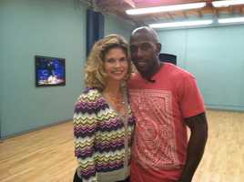 Stephanie Sutton dropped in at practice Saturday morning to talk 1-on-1 with Donald.